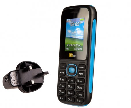 TTsims TT120 Dual SIM Mobile Phone with Mains Plug Charger
