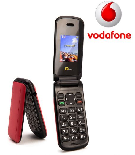 TTsims TT140 Red Mobile Phone Vodafone Pay As You Go