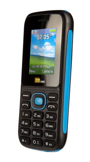 TTsims TT120 Dual SIM Mobile Phone Blue