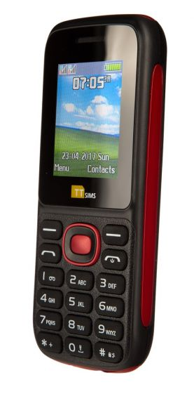 TTsims TT120 Dual SIM Mobile Phone Red
