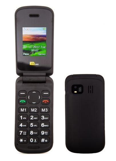 TTsims TT140 Black Mobile Phone