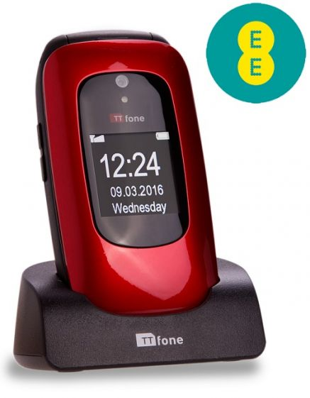 TTfone Lunar TT750 -  Red - EE Pay As You Go