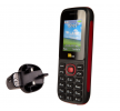 TTsims TT120 Dual SIM Mobile Phone Red with Mains Plug Charger