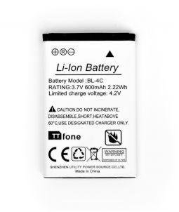 TTfone BL4C Original Battery for TT100 TT200 TT650 TT750 TT850 TT130