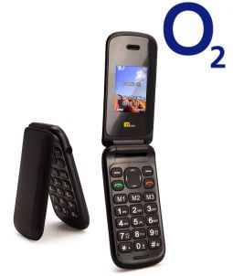 TTsims TT140 Black Mobile Phone O2 (Bundle) Pay As You Go