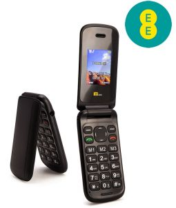 TTsims TT140 Black Mobile Phone EE Pay As You Go