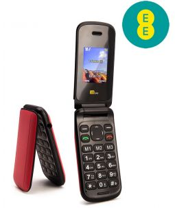 TTsims TT140 Red Mobile Phone EE Pay As You Go