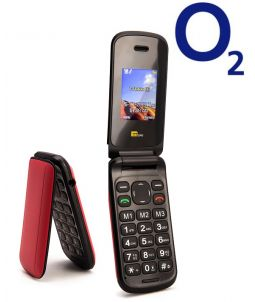 TTsims TT140 Red Mobile Phone O2 (Bundle) Pay As You Go