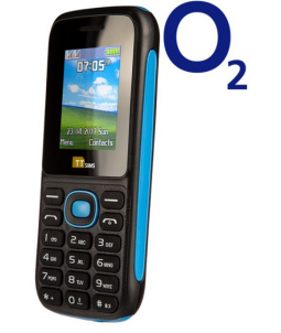 TTsims TT120 Dual SIM Mobile Phone Blue O2 (Bundle) Pay As You Go