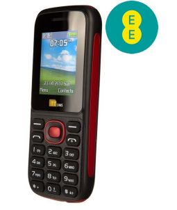 TTfone TT120 Dual SIM Mobile Phone Red EE Pay As You Go