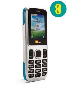 TTsims TT130 Dual SIM Mobile Phone Blue EE Pay As You Go