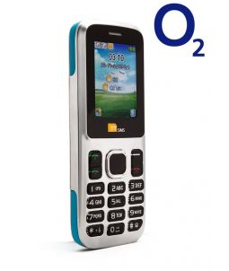 TTsims TT130 Dual SIM Mobile Phone Blue O2 (Bundle) Pay As You Go