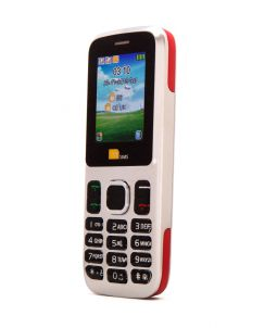 TTsims TT130 Dual SIM Mobile Phone Red EE Pay As You Go