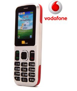 TTsims TT130 Dual SIM Mobile Phone Red Vodafone Pay As You Go