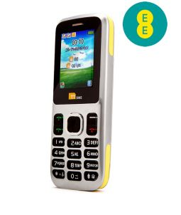 TTsims TT130 Dual SIM Mobile Phone Yellow EE Pay As You Go
