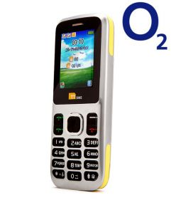 TTsims TT130 Dual SIM Mobile Phone Yellow O2 (Bundle) Pay As You Go