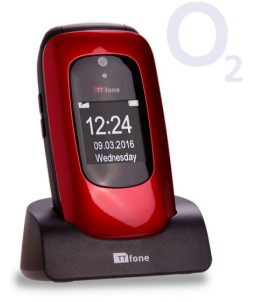 TTfone Lunar TT750 -  Red - O2 (Bundle) Pay As You Go