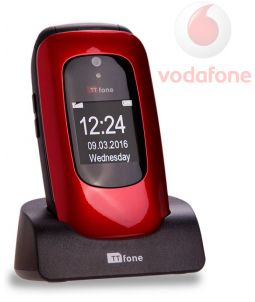 TTfone Lunar TT750 -  Red - Vodafone Pay As You Go