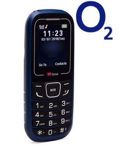TTfone TT110 Mobile Phone with SOS Blue O2 Pay As You Go