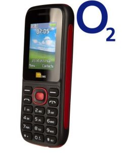 TTsims TT120 Dual SIM Mobile Phone Red O2 (Bundle) Pay As You Go