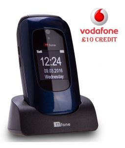TTfone Lunar TT750 - Blue - Vodafone Pay As You Go With £10 Credit