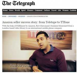 Success Story: from Teletape to TTfone - The Telegraph