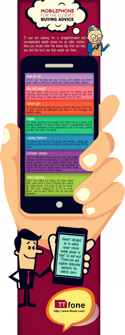 Mobile Phone for the Elderly: Buying Advice-Infographic